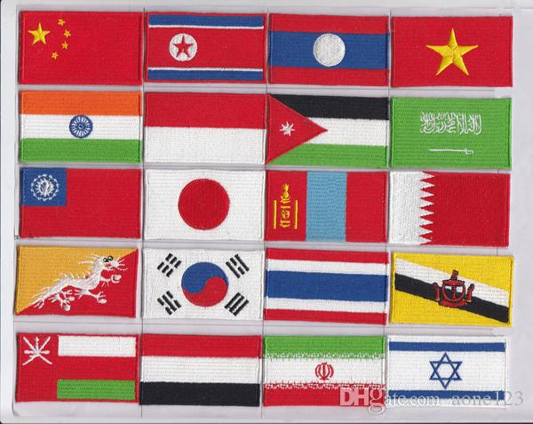 various countries in the world flag patch embroidery patches Random delivery low price made in china repair clothes patch