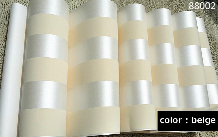 ... Waterproof Nursery / Kidu0027s Room 10M Roll Modern Simple Style 3D Stripe  Wallpaper Bright Pink Beige Brown Wallpaper Of Cream White Background Wall  Tapete