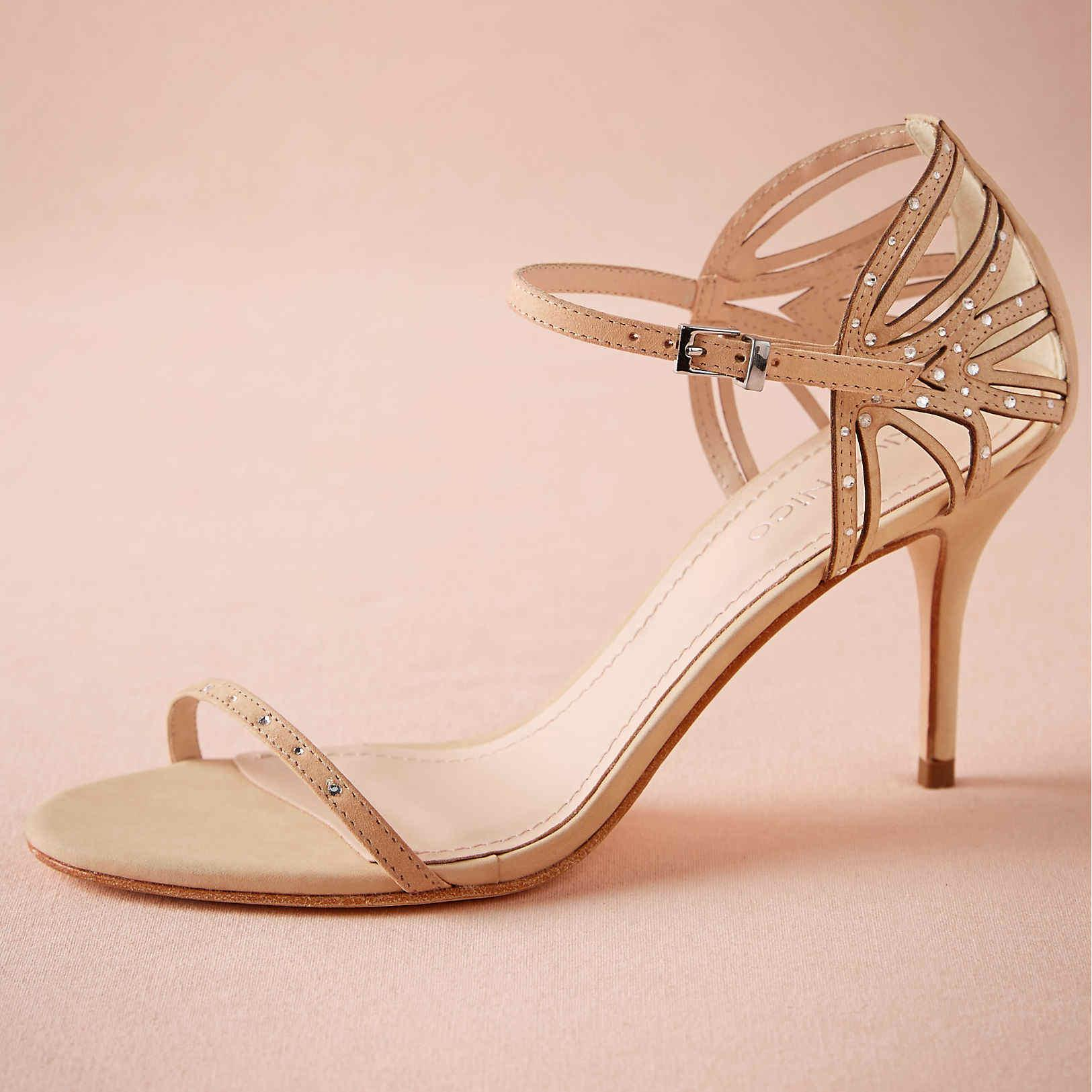 Blush Pink Wedding Shoes Sandal Open Toe 2015 Women Pumps Wedding ...