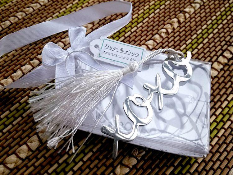 Argento in acciaio inox segnalibro scava fuori i segnalibri incrociati di nozze favorisce nuova moda bellissimi regali di nozze bomboniere
