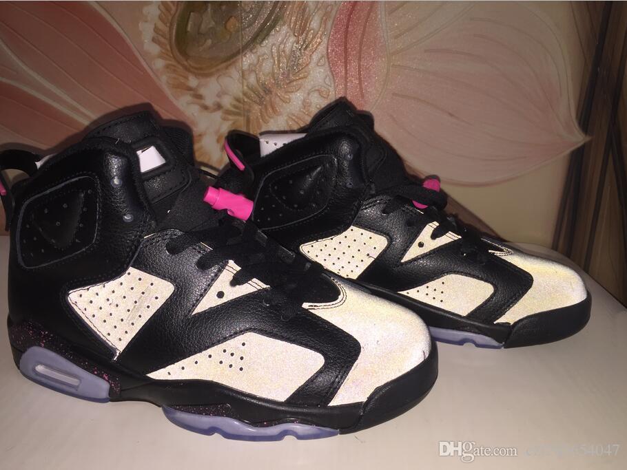 New Women Basketball Shoes 6 GS Hyper Pink Anthracite Black-Hyper ... 07ac5e3419