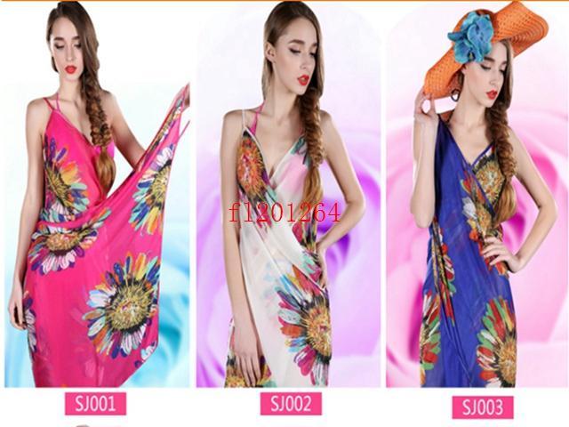 Chiffon Women Wrap Summer Cover Up Beach Wear Pareo Dress Towel Swimwear Skirts