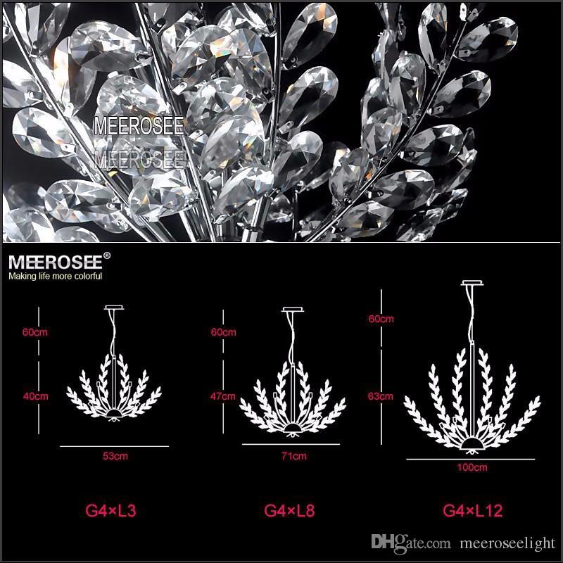 3 Light Crystal Chandelier Light Floral French Crystal Lustre Light Cristal Suspension Hanging Lamp MD2367