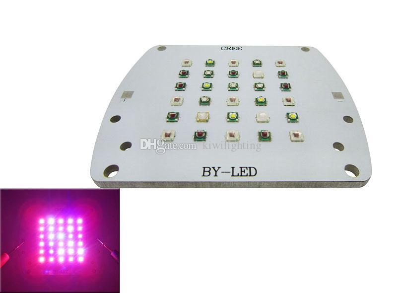 100W Светодиодный модуль 5000K Белый + 630 Красный + 530NM Зеленый + 460NM bBue + 430NM УФ + 395 нм Cyan + 660NM 23-25В