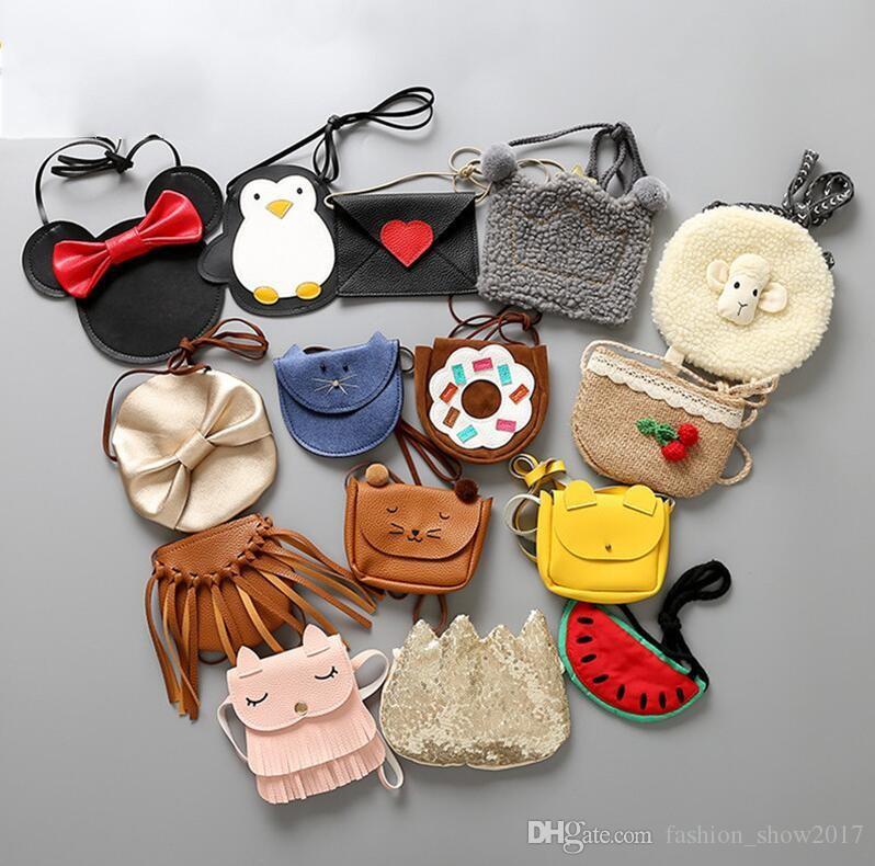Coin Purse enfants mignons petites filles Lapin Messenger Sacs Filles bébé Chat Messenger Sacs Mode Animaux Décoration Sacs Cadeaux