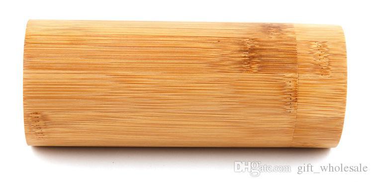 2016 Date Vente Chaude Bois Lunettes De Soleil Cylindre Boîte Natrual Bambou Lunettes De Soleil Lunettes Lunettes Style Fabriqué À La Main en Bambou En Bois Boîte Cadeau