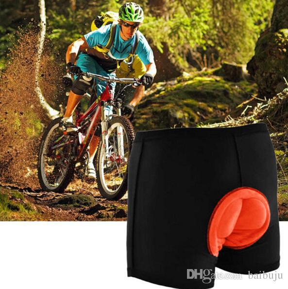 Homens Acolchoado Calções De Ciclismo Gel De Bicicleta 3D Bicicleta Calções De Ciclismo Acolchoado Cueca Cuecas de Fitness frete grátis
