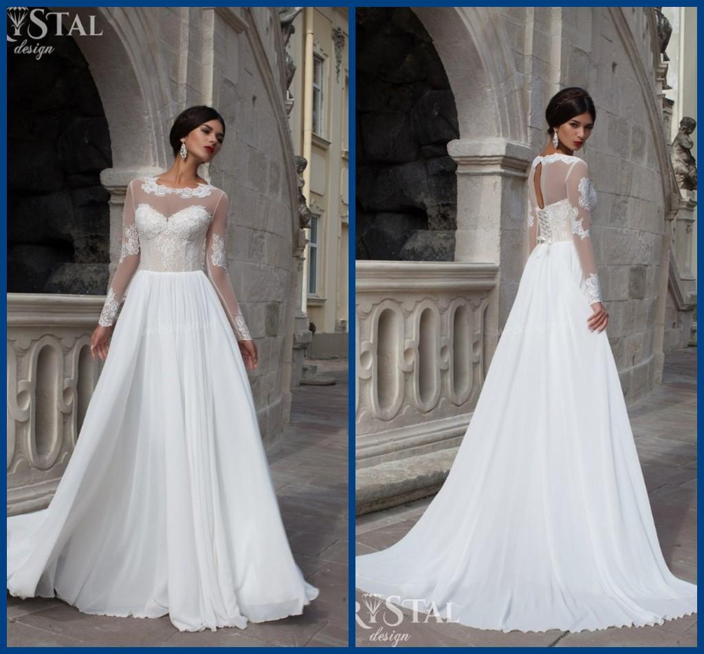 Discount 2017 Wedding Dresses !flowing Graceful Beautiful