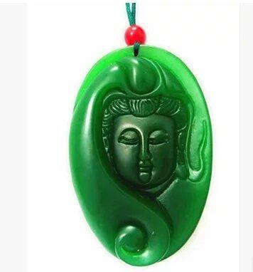 2016 Vente Chaude Bouddhisme Médaillon Pitié Guanyin Bodhisattva Bon Augure Hang Jade Heureusement Bouddha Pendentif Colliers