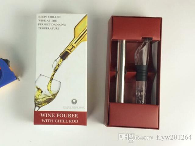 / Expédition rapide Écologique En Acier Inoxydable Ice Wine Chiller Vin Cool Cooling Stick Bâton, /