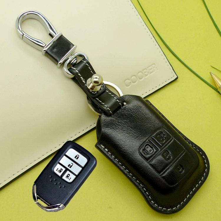 genuine leather smart key fob cover case for honda 2015 odyssey 2016genuine leather smart key fob cover case for honda 2015 odyssey 2016 2017 elysion 4 buttons key case holder wallets accessories electronic car key