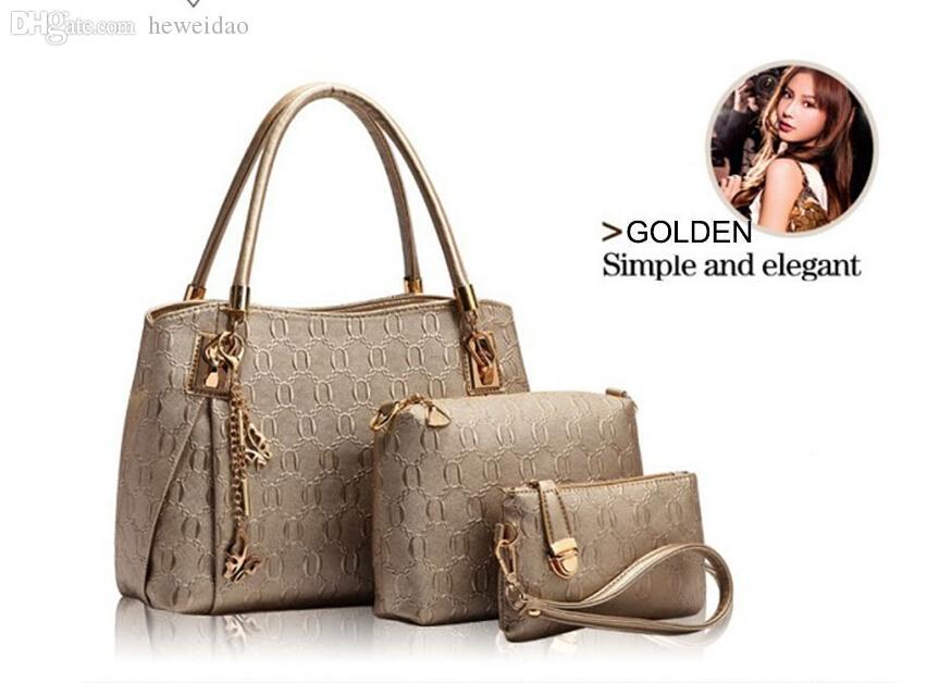 Wholesale New 2015 Women Handbags Leather Handbag Women Messenger Bags  Ladies Brand Designs Bag Bags Handbag+Messenger Bag+Purse Leather Bags For  Women ... a106e65f376ea