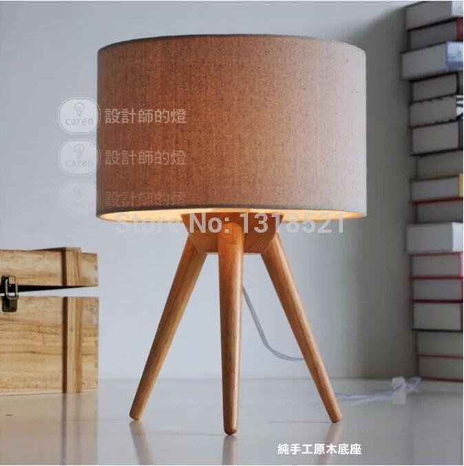 Tripod wood table light with fabric lamp shade high quality table tripod wood table light with fabric lamp shade high quality table lamp desk light kids room gift order18no track table light shades table leather light aloadofball Choice Image