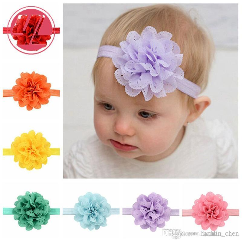 2018 Promotion Mix Color Hair Bows Yl New Style Hollow Wave Hair Band Children Head Bands Girls Fashion Big Flower Elastic Accessories 579