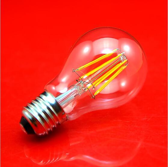 نوع اديسون A19 LED عكس الضوء خيوط لمبة ضوء 4W 6W 8W E27 B22 قاعدة 220VAC LED خيوط لمبة كلاسيكي Edsion بقيادة مصباح