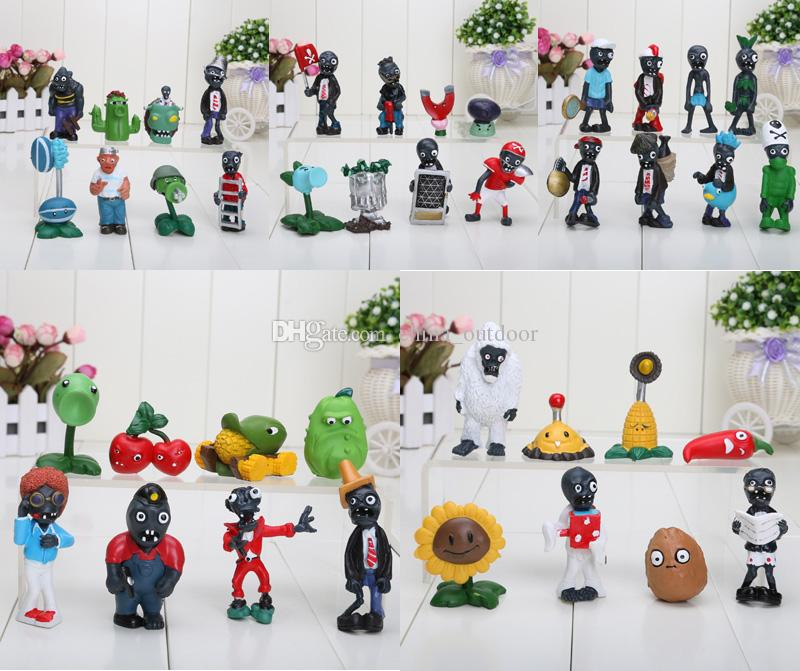 Plants vs Zombies Action Figure 2.5-6.5cm PVZ Collection Figures Toys Gifts plant