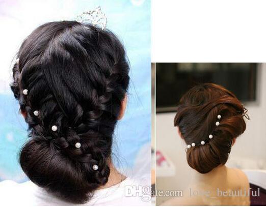 Горячие продажи 200 шт. 8 мм белый жемчуг U зажим заколка для волос для свадебной моды сплава заколки для волос Леди украшения для волос женщины аксессуары для волос
