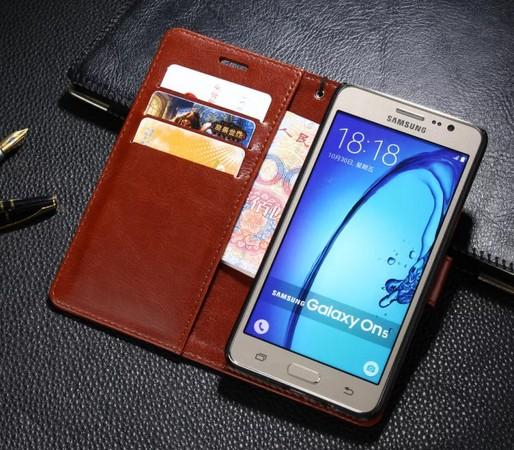 Hot Sale For Samsung On5 Case Ultra-Thin Slim Flip Stand Original Luxury Cover Leather Case For Samsung Galaxy O5 On5 G550