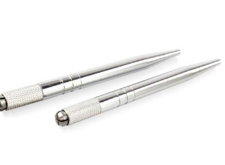 Permanent Makeup Augenbrauen Microblading Stift Maschine 3D Tattoo Manuelle Doule Kopf Stift kostenloser versand