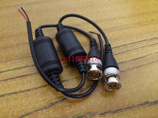 100 pz / lotto 50 paia spedizione gratuita un canale passivo ricetrasmettitore CCTV video Balun UTP-602B video su cavo CAT5 BNC maschio