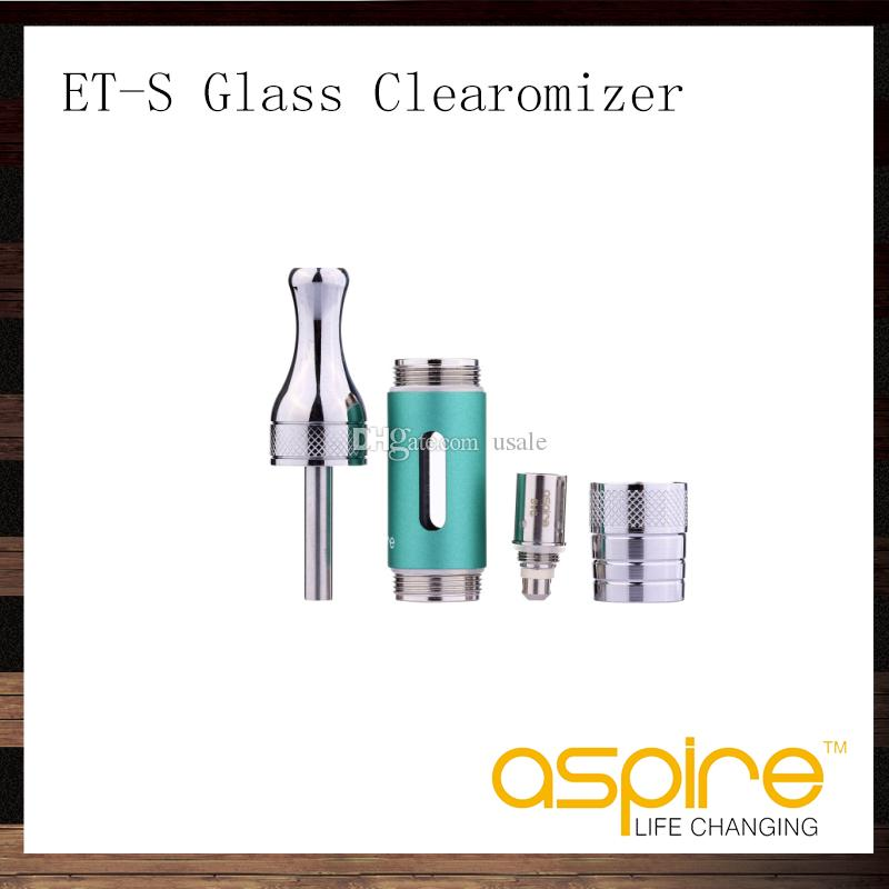 Aspire ETS BVC Glass Clearomizer ET-S BDC Glassomizer 3ml Aspire ETS Atomizer With BVC BDC Coils Head