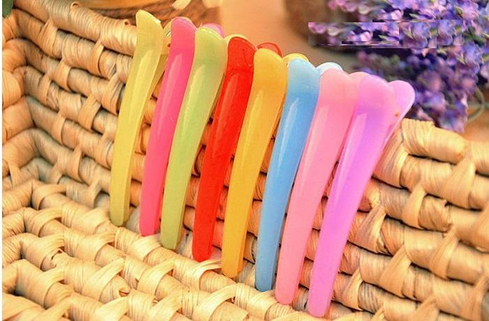 Wholesales Candy Color Resin PP material Duck Hair Pin Helpful Small Clip tool for Hair make up Free ship by Epacket by DHL