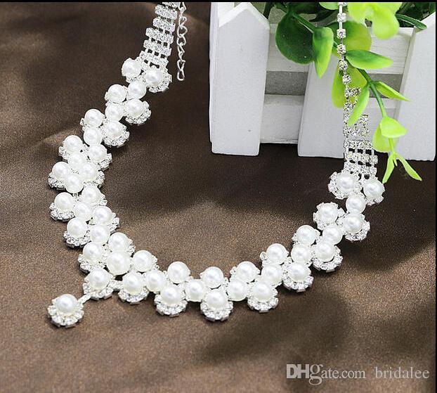 16 Стиль Свадебный Свадьба Кристалл Горный Хрусталь Кулон Ожерелье Серьги Ювелирные Наборы Свадебные Ювелирные Изделия Аксессуары