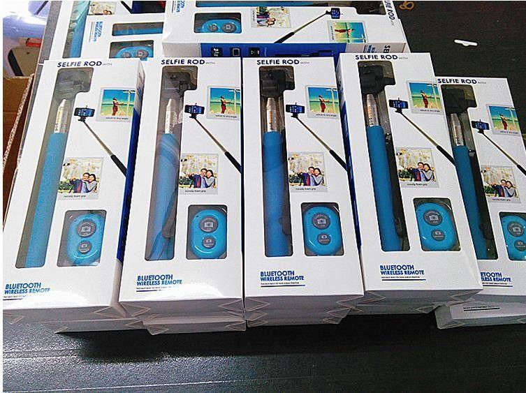 Lüks leri 30 adet Z07-1 Monopod Bluetooth Deklanşör Klip tutucu iphone Android için Özçekim monopod çubuk Uzaktan Kumanda