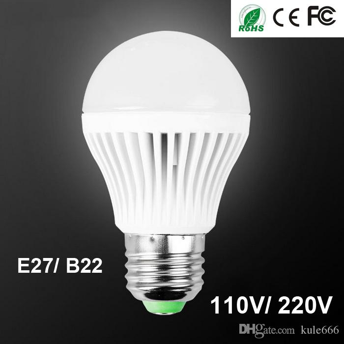 110V 220V LED Lights Best Energy Saving High Quality B22 E27 LED Bulb Lights 3W 5W 7W 9W 12W Warm Cool White Globe Lamps Bulbs Free Shipping