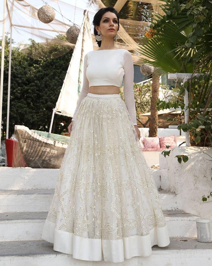 Amazing Two Pieces Wedding Dresses 2016 Sequined Indian Wear with Long Sleeves Custom Made Plus Size Bridal Gowns Wedding Party Dress