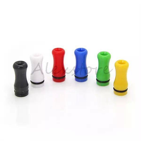 6 Stili di plastica con punte a goccia 510 Ego con punta a goccia, boccaglio colorato, goccia piatta, driptip trasparente vendita clearomizer rda vape