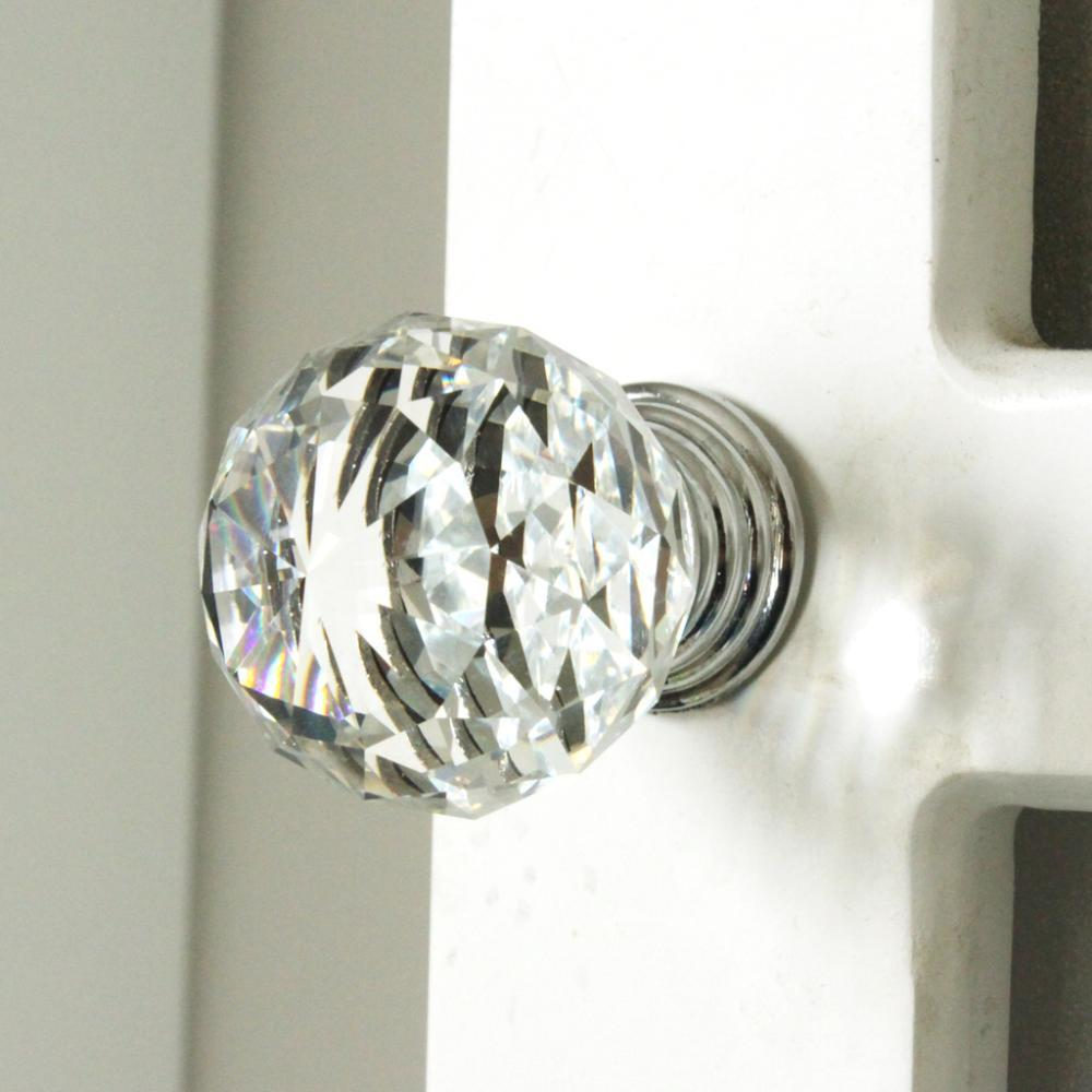 2017 1504 k9 clear crystal knob chrome glitter knob kitchen