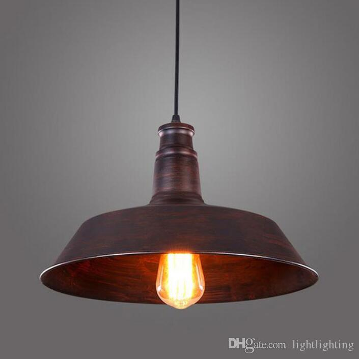 Vintage Rustic Metal Lampshade Edison Pendant Lamp Lights Retro