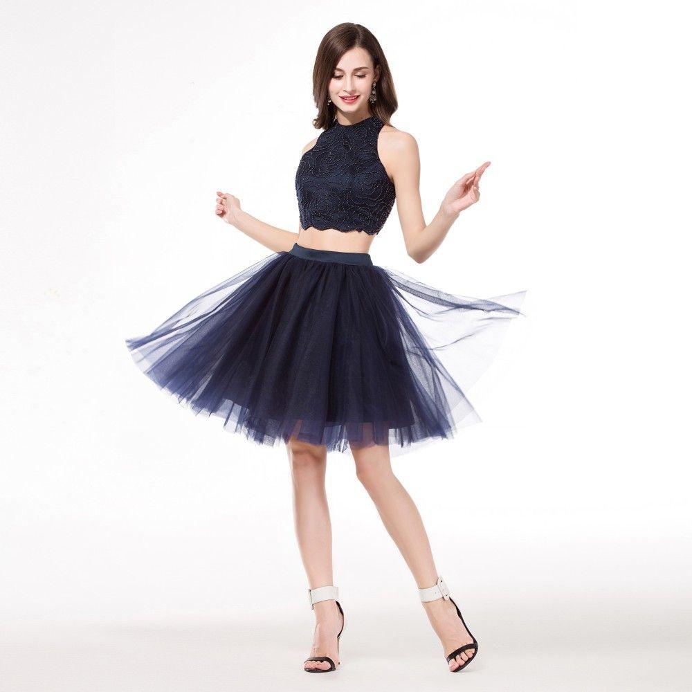 Hot 8th Grade Graduation Prom Dresses Removable Skirt Semi Formal ...