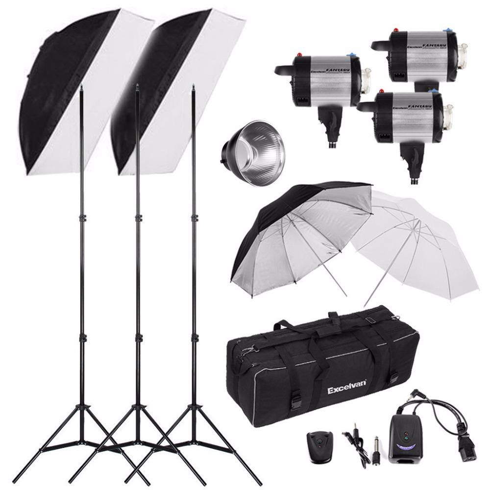 am studio lighting. Excelvan FA-300AM 900W Studio Flash Light Kit Digital Display Photography Lighting Photo Strobe Lamp Am B