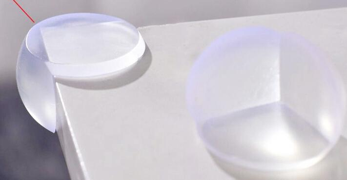 Round Corner Protectors Corner Cushions For Glass Tables Or Shelves With 3M Sticker baby safety corner DHL Free