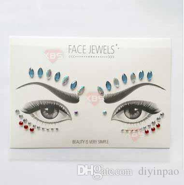 4c586cca40 Wholesale Acrylic Diamond Sticker Face Jewels Sticker Women Girls  Masquerade Party Supplies Eyes Makeup Decorations Free Shipping