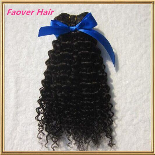 Gratis frakt Top 7A 100G 100% Human Hair Weft Obehandlat Mongolian Virgin Hair Afro Kinky Curly Deep Curly Natural Color Hair Weave