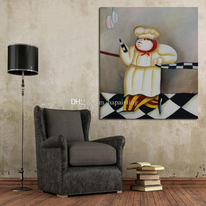 Handpainted New Design Decorative Art Oil Paintings on Canvas Art Abstract Cook Wall Pictures for Home Decor