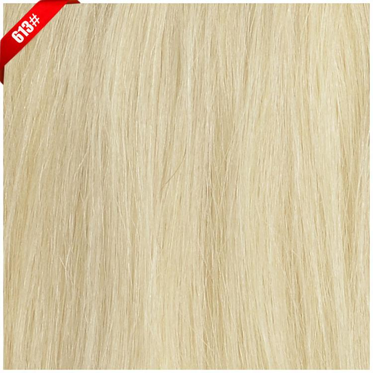 """5A 160g18""""-26"""" #613 light blonde real human hair/brazilian hair clips in extensions real straight full head dhl free"""