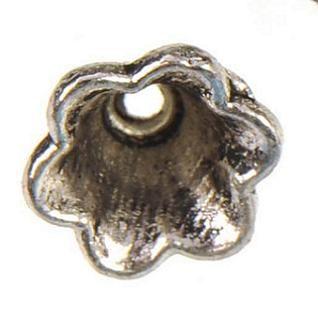 حبات معدنية قبعات الفضة لصنع الخرز مجوهرات خمر العتيقة جديد diy الأزياء والمجوهرات النتائج والاكسسوارات نهاية قبعات 8 * 5 ملليمتر 400 قطع