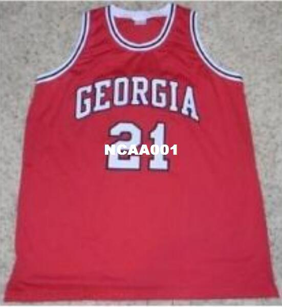 36ea627c4afe 2019 Men  21 DOMINIQUE WILKINS Jerseys GEORGIA BULLDOGS College JERSEY Red  White Or Customize Any Number Men Stitched Jersey From Ncaa001