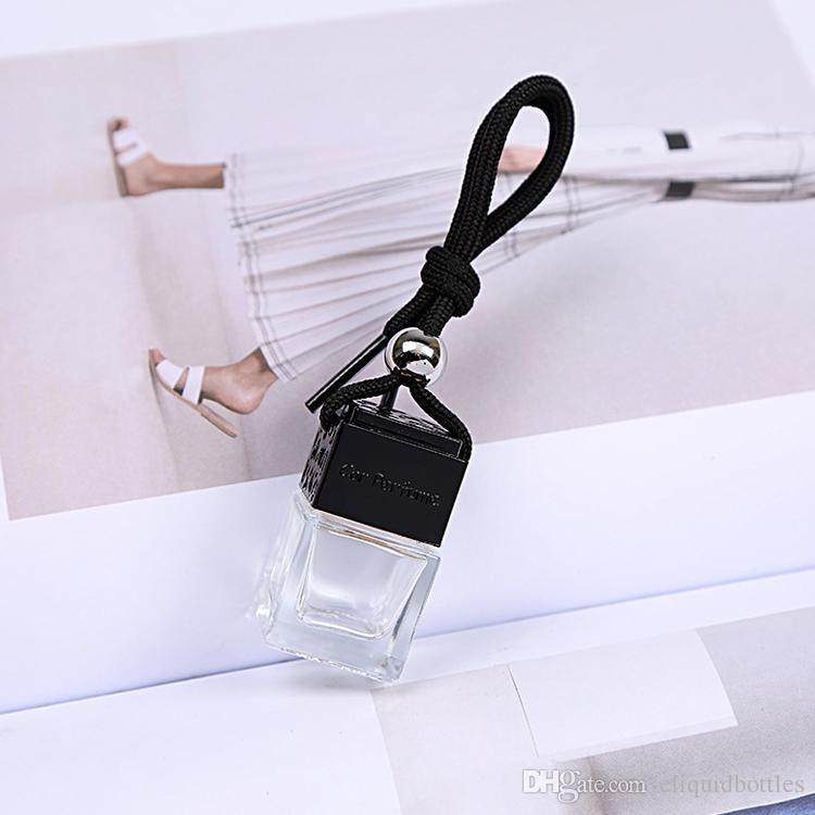 Großhandel Einzelhandel Nizza Entwurfs-Quadrat-Auto-Diffuser Flaschen Auto-Duftstoff-Flaschenglas-Diffusor-Auto-Dekoration Freier DHL