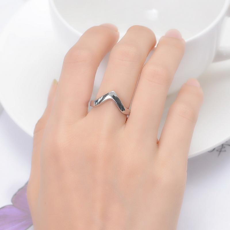 2018 Fashion Stylish Women Girls Pale Silver V Shape Knuckle Ring ...