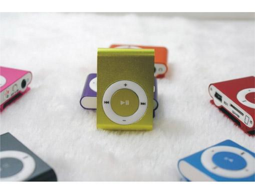 Multi-function Mini MP3 Player With TF SD Card Slot Sports Portable Dazzle Color Metal Housing MP3 Player