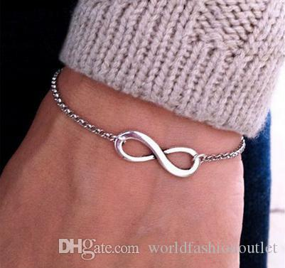 One Direction Cheap Girl Jewelry Pulseira Digital Infinity Bracelets For Women Wholesale Bangle Wedding Bijoux Pulseras Link Chain Free DHL