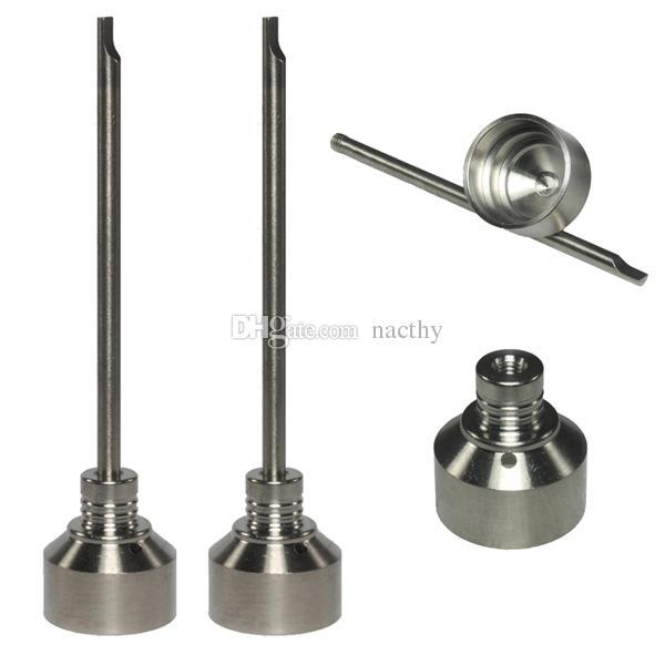 10mm 14mm 18mm Regolabile in titanio Set di strumenti unghie Bong in vetro Domeless GR2 Chiodo in titanio con tappo Carb Strumento da taglio Slicone Barattolo Contenitore Dab