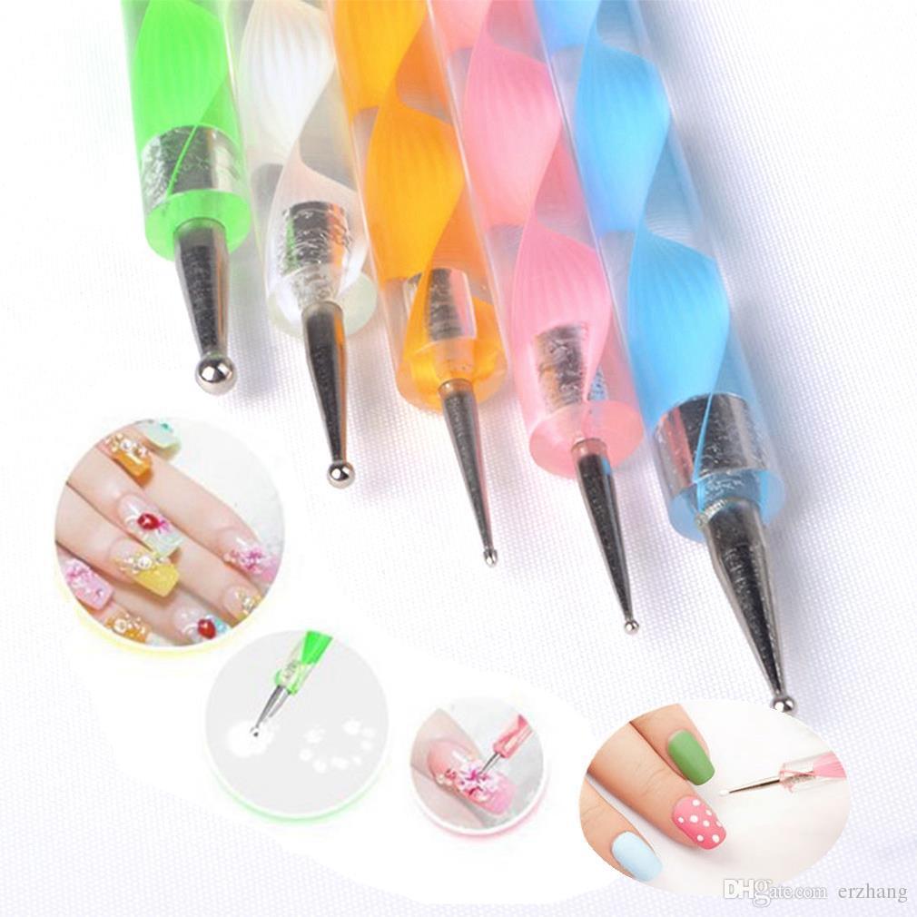 New design nail brush set2way dotting pen nail tool double use see larger image prinsesfo Gallery