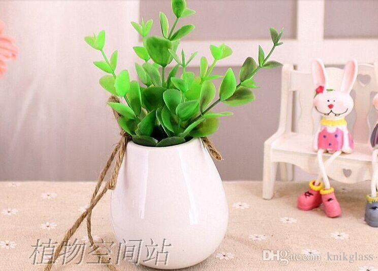 Hanging Wall Planter white egg shape ceramic planter,hanging wall planter vase for