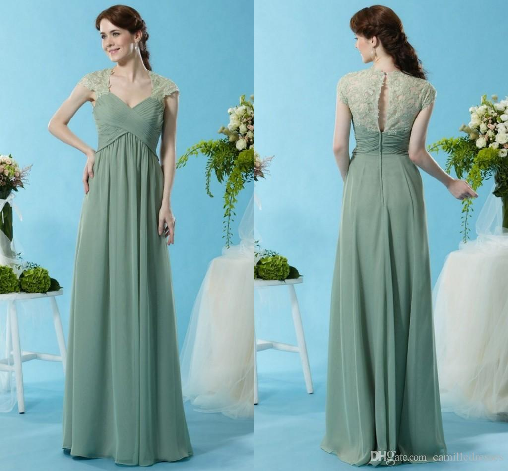 Chiffon long mint sage green bridesmaids dress sheer 2015 maid of 10 ombrellifo Gallery